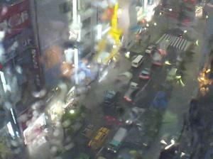 Shinjuku Webcam screen shot.  August 5, 2008.  5pm.